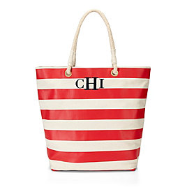 C Wonder Nautical Printed Canvas Tote