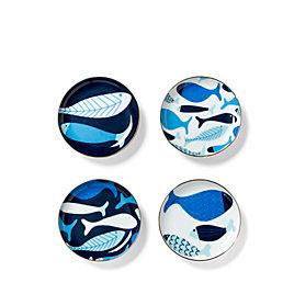 C Wonder School of Fish Porcelain Coasters